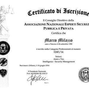 A.N.E.S.P.P. - Certificato