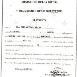 Euroformazione Difesa / F.S.E. - Certificato ENG 1/L