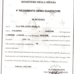 Euroformazione Difesa / F.S.E. - Certificato ENG 2/L