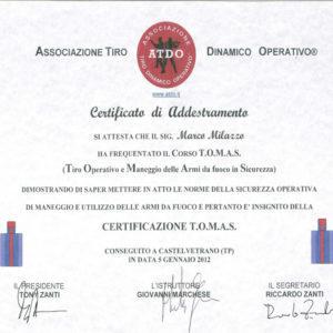 Certificazione tomas