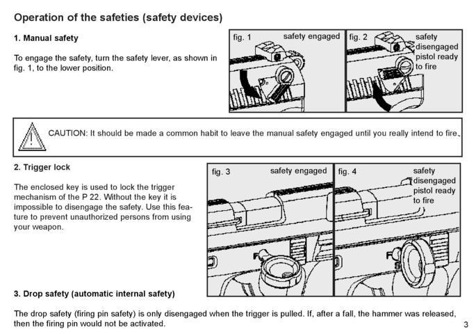 Walther P22 – Manual on
