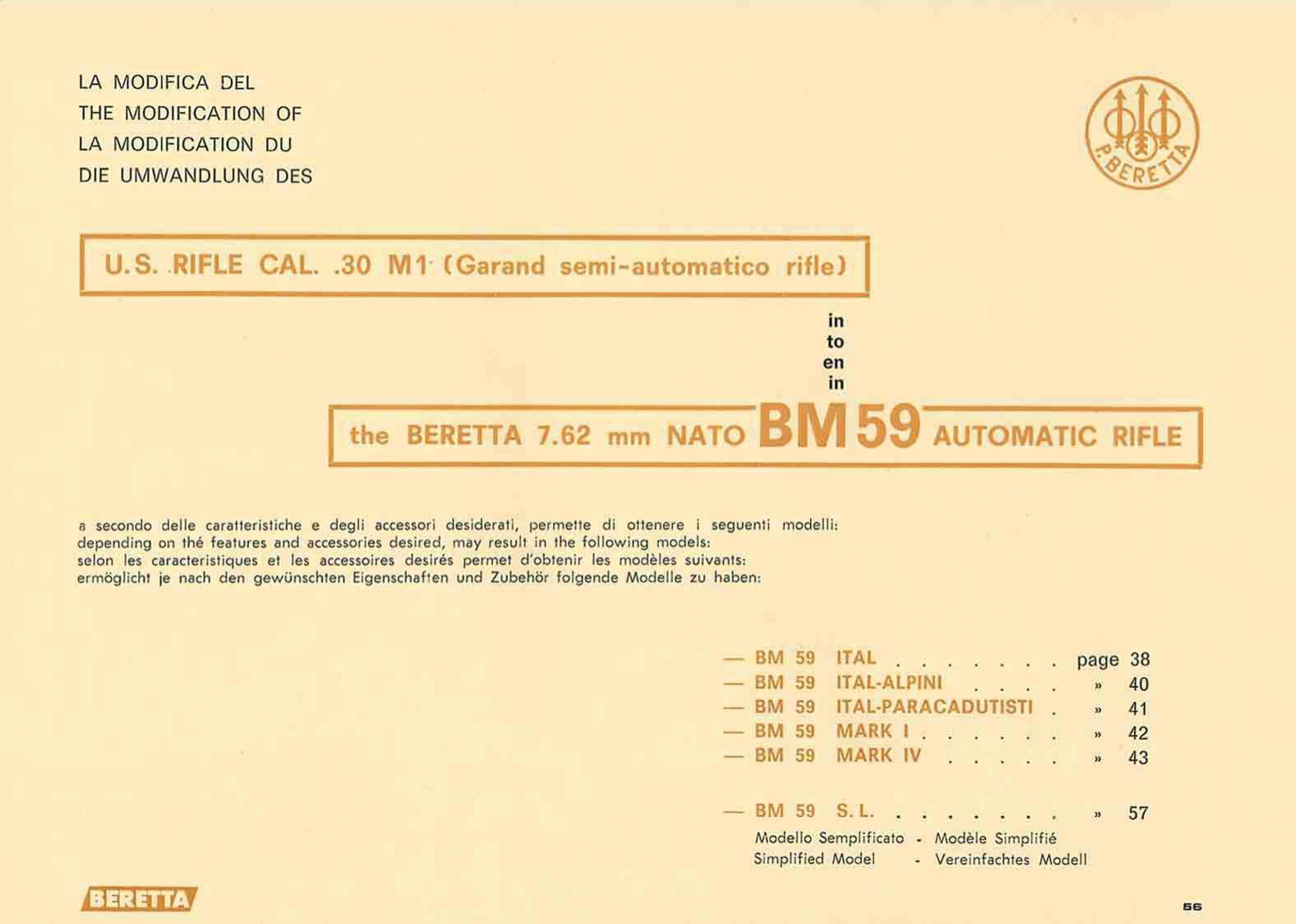Beretta BM59 – Manual