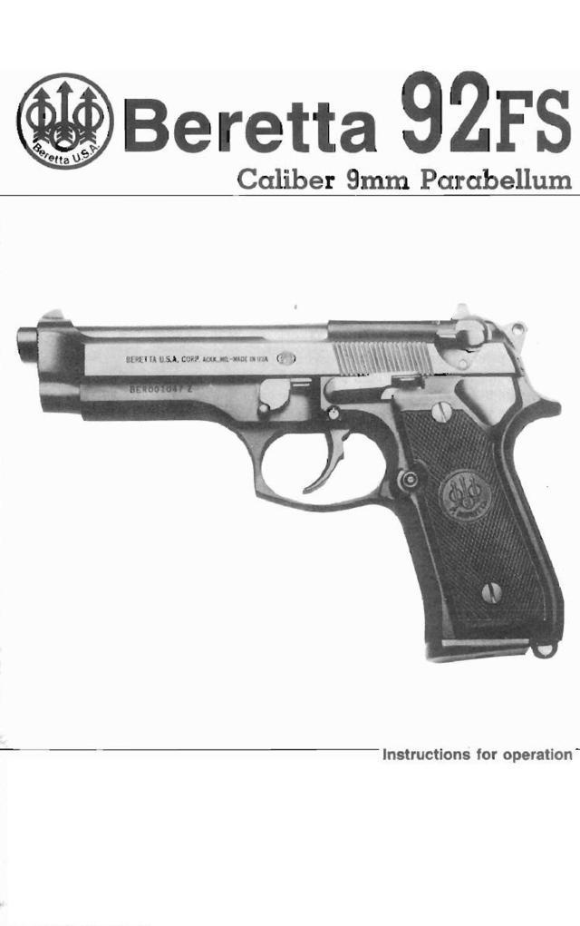 Beretta owners manual
