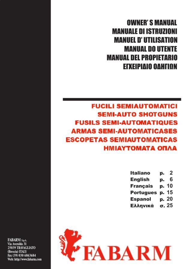 Fabarm Axis – Manual
